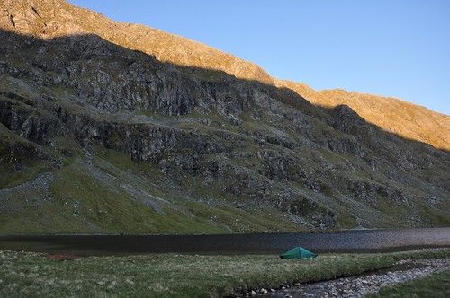 Camp by Dubh Loch Mor