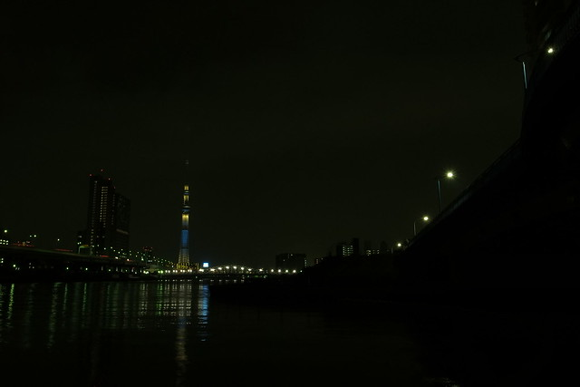 river and light at night 3