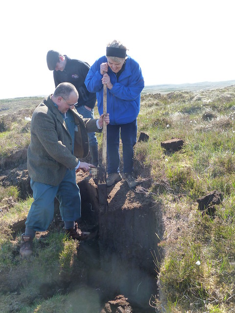 Tour Guests Cutting Peat, Isle of Lewis