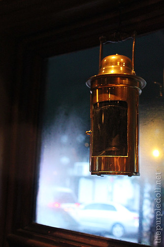 Lamp at Cafe Adriatico'