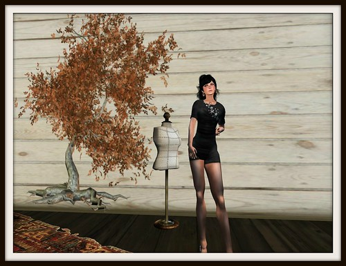 bonne chance! Nana dress black (con tag de grupo) by Cherokeeh Asteria