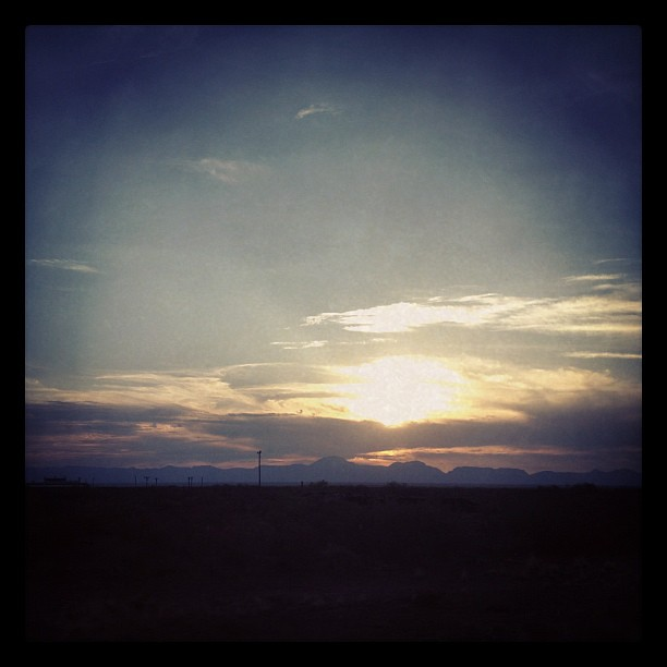 Our first desert sunset #pcsroadtrip #milspouse #texas