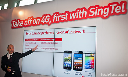 Mr Yuen Kuan Moon, SingTel's CEO Consumer Singapore briefing on the launch of the 4G services for smartphones.