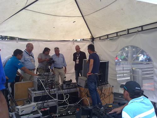 El equipo de studioTV trabajando