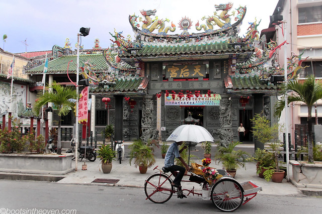 Rickshaw and Temple