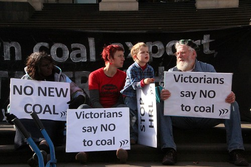 Victorians say no to coal - rally for No New Coal projects