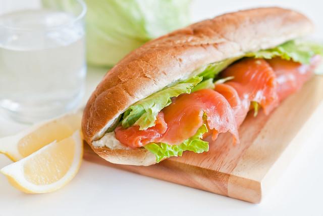 Сэндвич с семгой рецепт