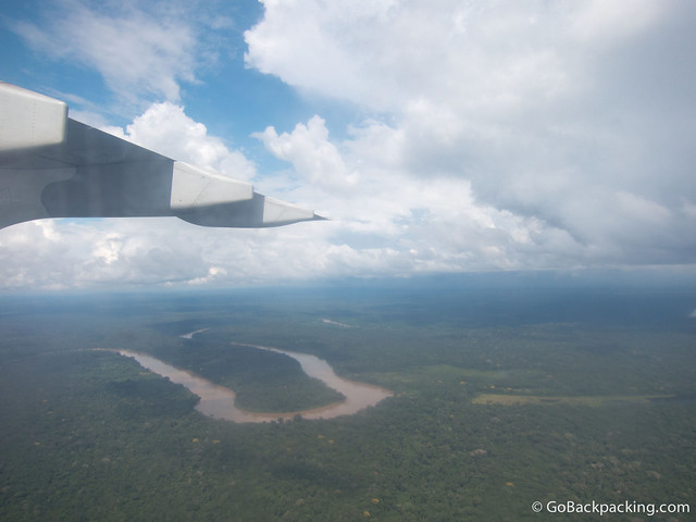 Flying over the Amazon Basin, on approach to Puerto Maldonado