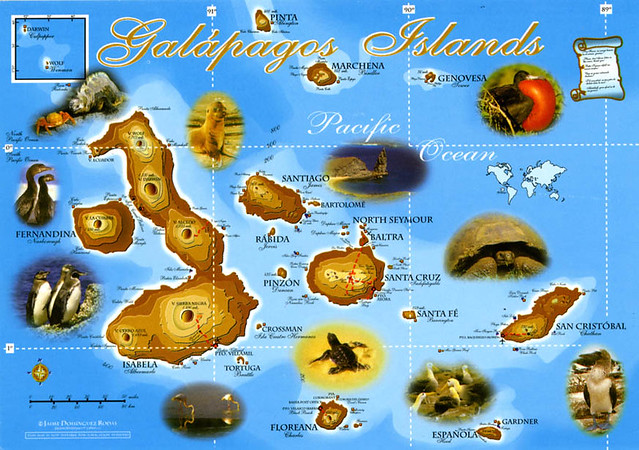 Carte Galapagos