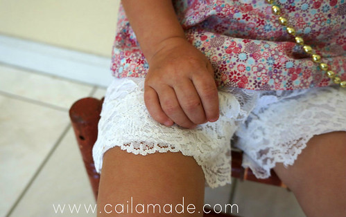 Lace Summer Shorts detail