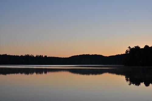 ontario canada silhouette sunrise dawn horizon frontenac desertlake reallyfreakingearlyinthemorning