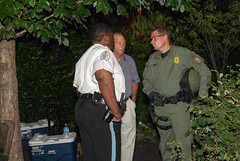 US Park Ranger in conversation with Philadelphia PD chief