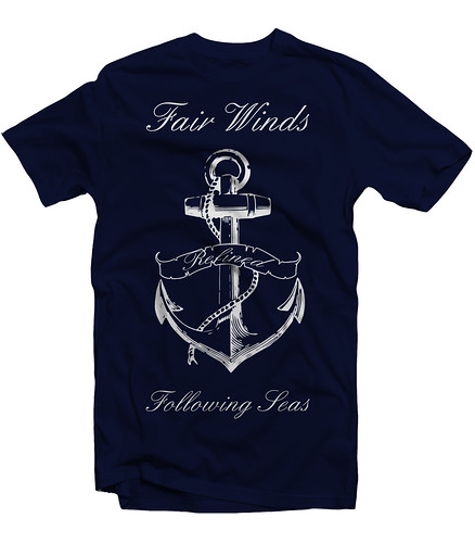 Fair Winds Tee - Navy