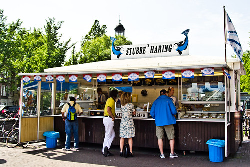 Stubbe's Haring Fish Stand in Amsterdam
