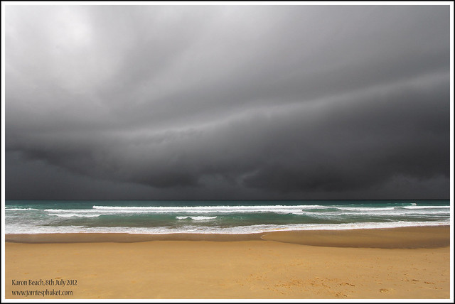 Storm approaching Karon Beach Phuket