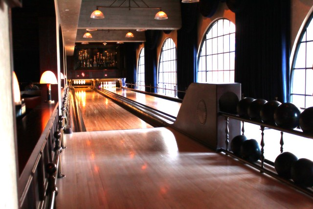 Hollywood Roosevelt's Spare Room bowling alley by Caroline on Crack