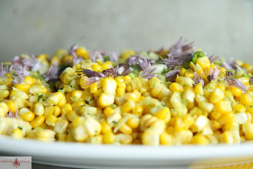 Sautéed Corn with Spicy Herb Butter