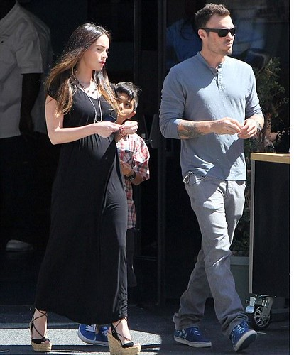 Megan Fox Baby Bump in Black