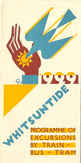 London Underground Group - Whitsuntide 1929 leaflet, cover by Edward McKnight Kauffer