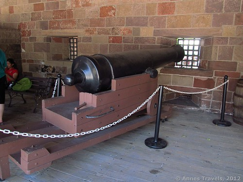 A cannon in Castle Clinton National Monument, New York City