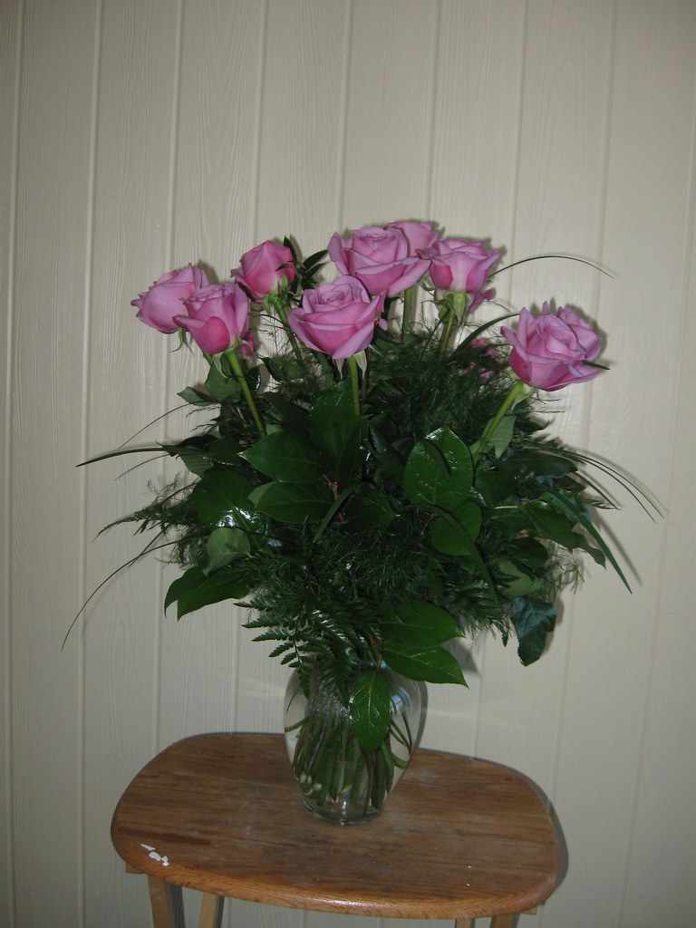 Lavender roses delivered to Lane Funeral Home in Winchester, MA 01890; www.rolliflowers.com