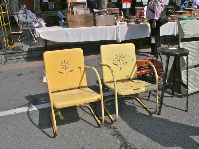 It's Christine's $95 rusty garden chairs!