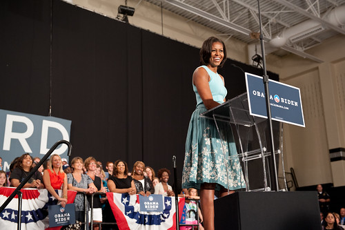 Michelle Obama in Columbus Ohio, 072412