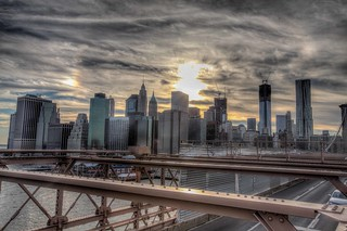 south manhattan from brooklyn bridge