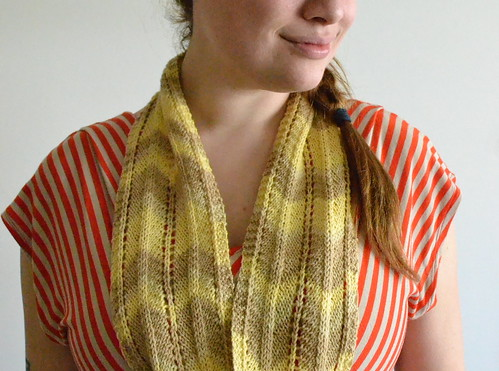 three color chevron scarf
