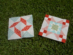 Blocks 1 & 2 of FQS Designer Mystery BOM
