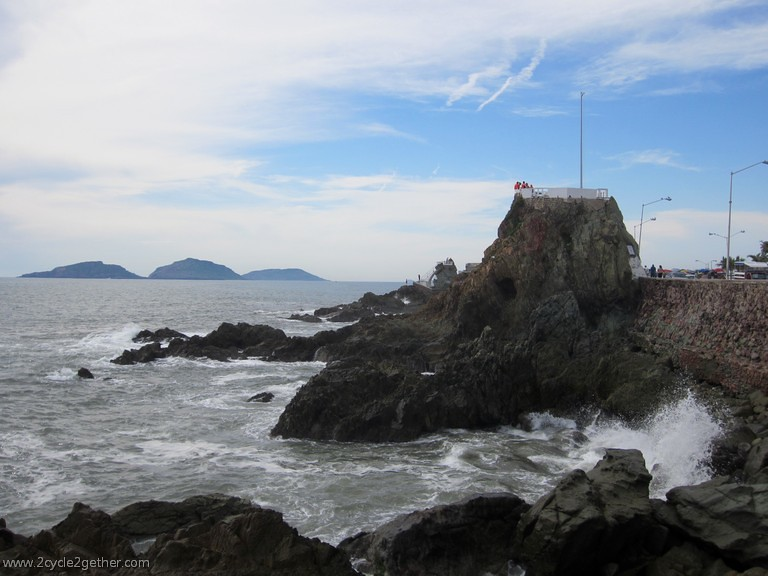 Cliff-diving platforms in Mazatlan