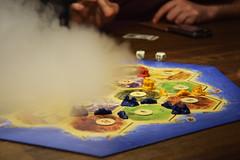 Smoke avalanche