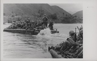 Marines Use AmTracs During an Operation, 9 December 1967