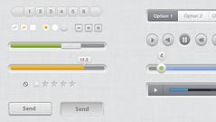 Free Clean UI Kit PSD Elements UI kit