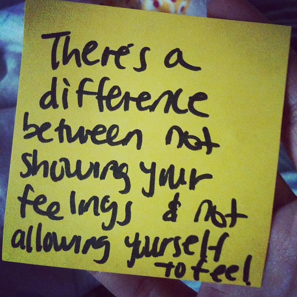 "Sticky note inside my closet. ""there's a difference between not ..."