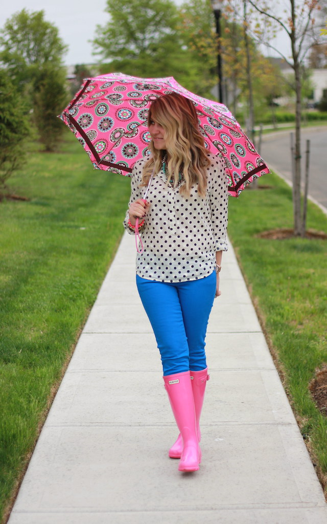 Bright Rainy Day Outfit