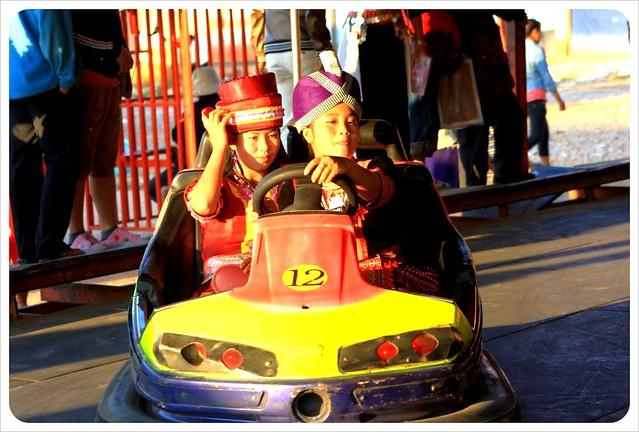 phonsavan hmong girls bumper car