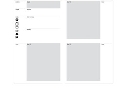 Moleskine for copywriters template
