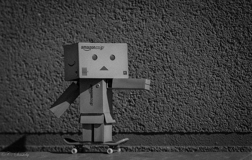 Danbo preparing for a stunt