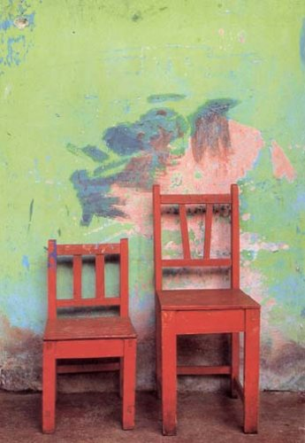 Jeffrey Becom, Two Red Chairs, San Cristobal De Las Casas, Mexico