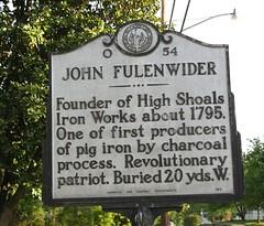 John Fulenwider Marker High Shoals NC