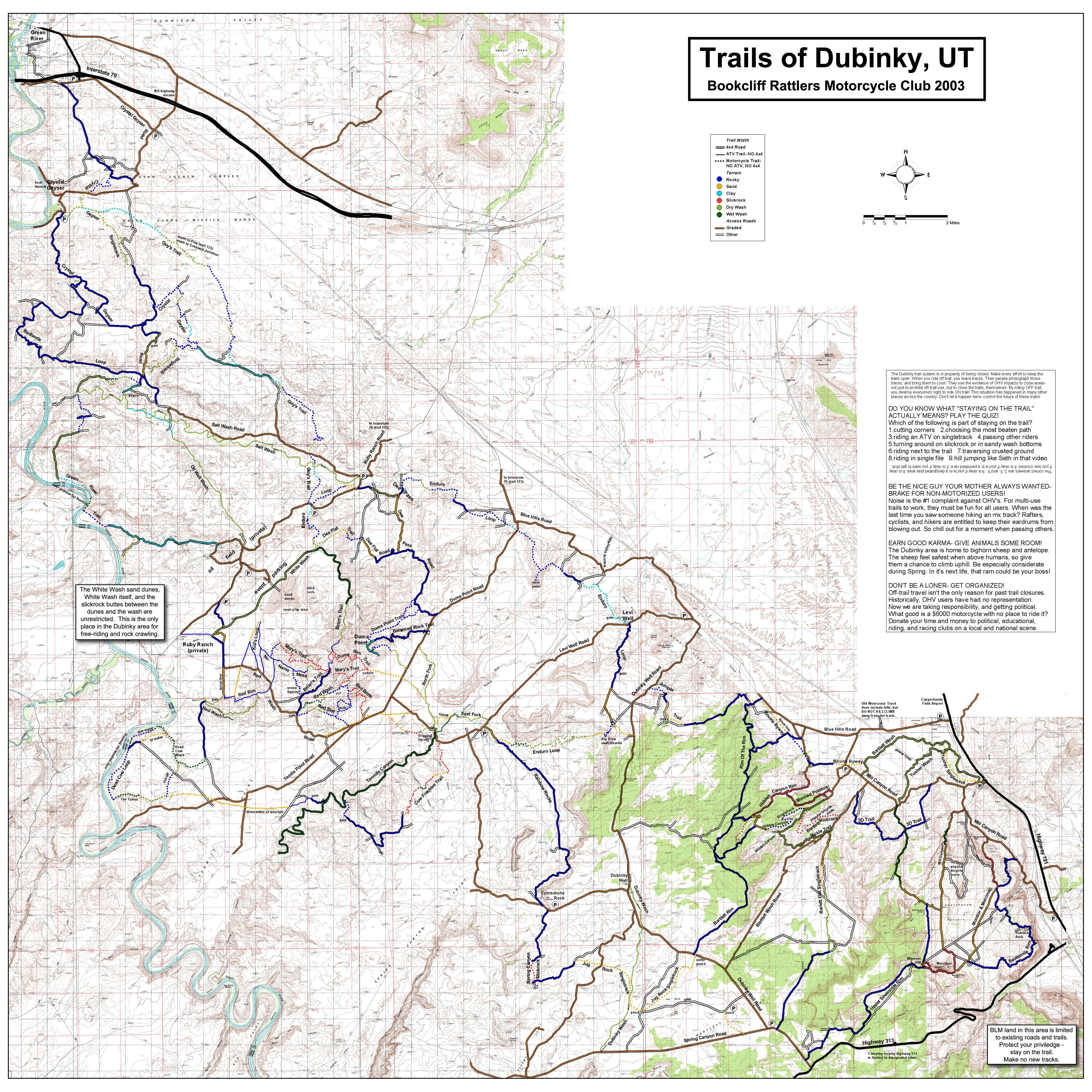 Utah Moto Trails Dirt Bike And ATV Trails Brians Trail To Dead - Wash map