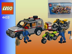 Lego City Dirt Bike Transporter Nr. 4433 Recreated - Landrover Discovery 4