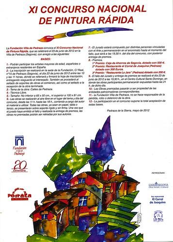 Cartel XI Concurso Nacional de pintura rápida en Pedraza