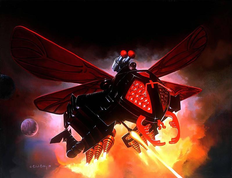 Ken Kelly - Hornetroid, Micronauts Box Cover Art