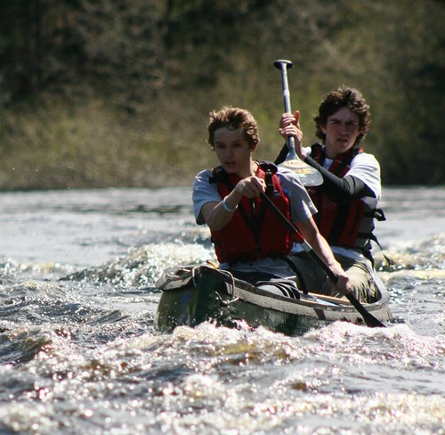Paddling on the Baskahegan Stream -
