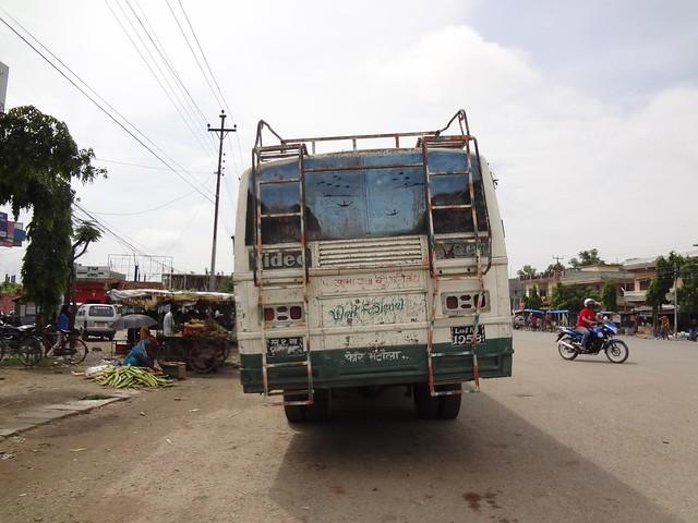 Autocarro desde Bhairahawa até Lumbini, Nepal