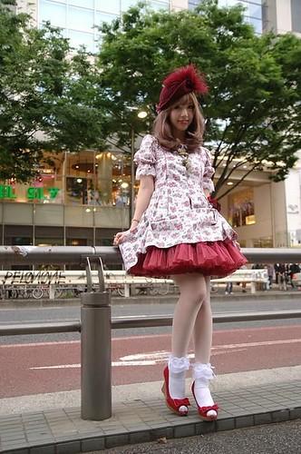red classic lolita dresses