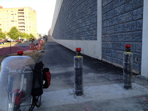 New Bollards on the Mount Vernon Trail