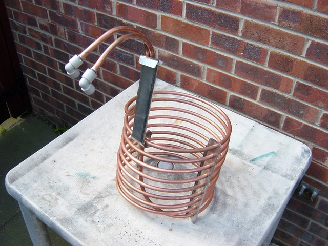 how to clean copper immersion chiller